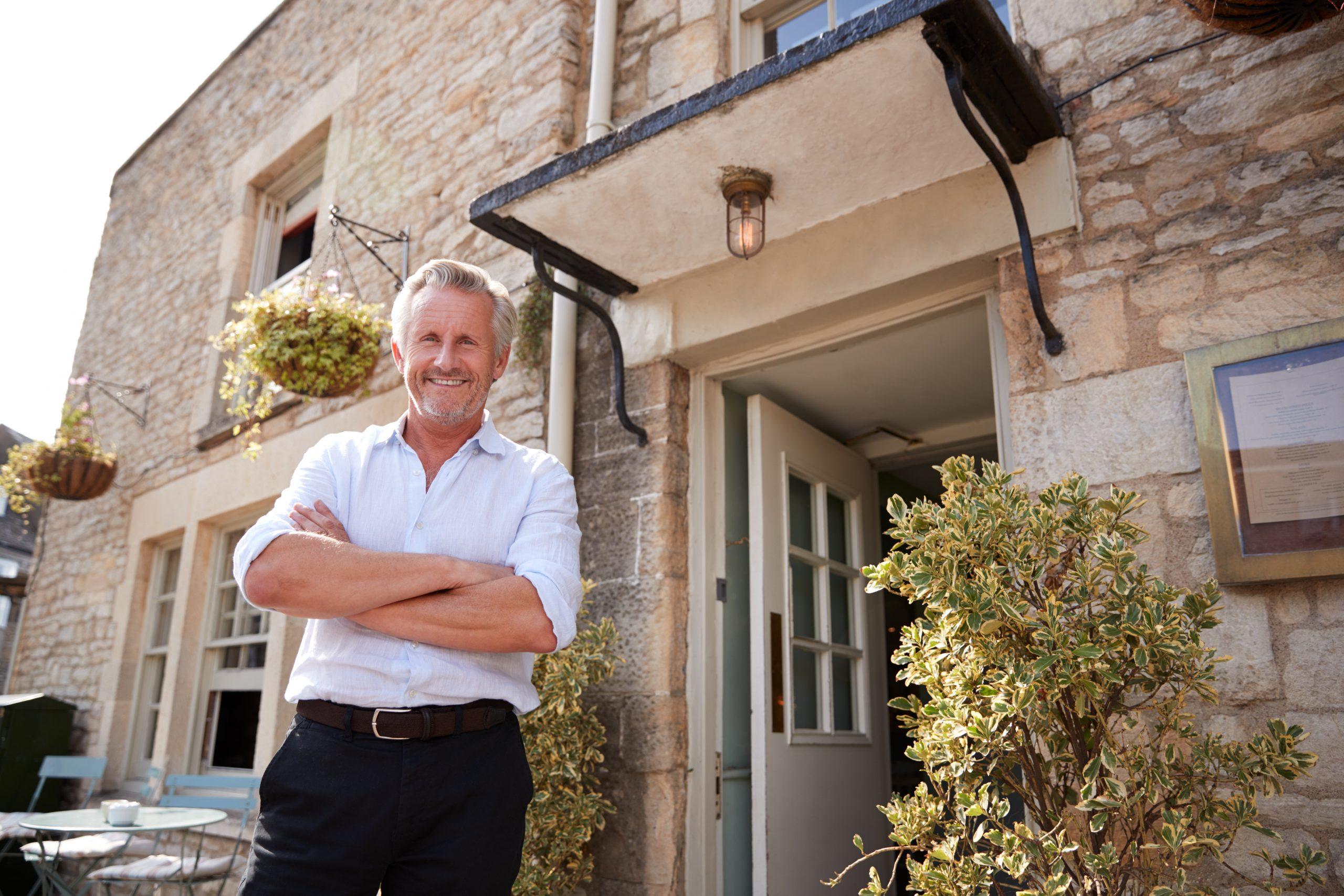 Marston's Landlord outside pub
