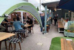 The Black Lion, Buckley - beer garden